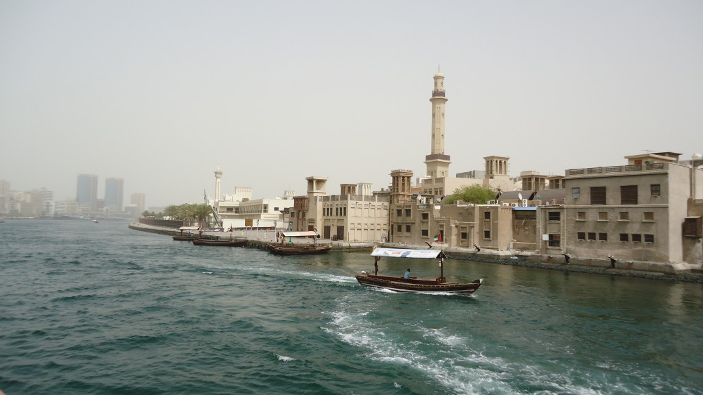 Older area of town along the Dubai Creek