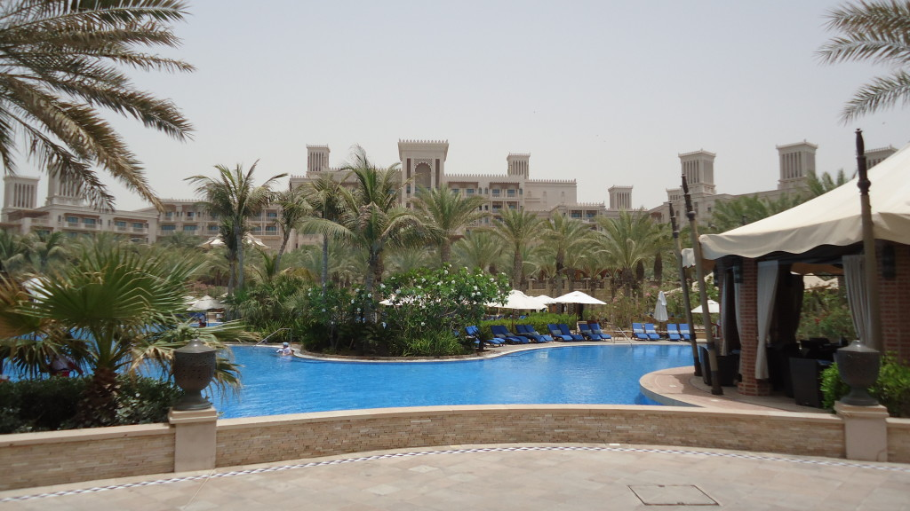 View of one of the pools at Madinat Jumeirah