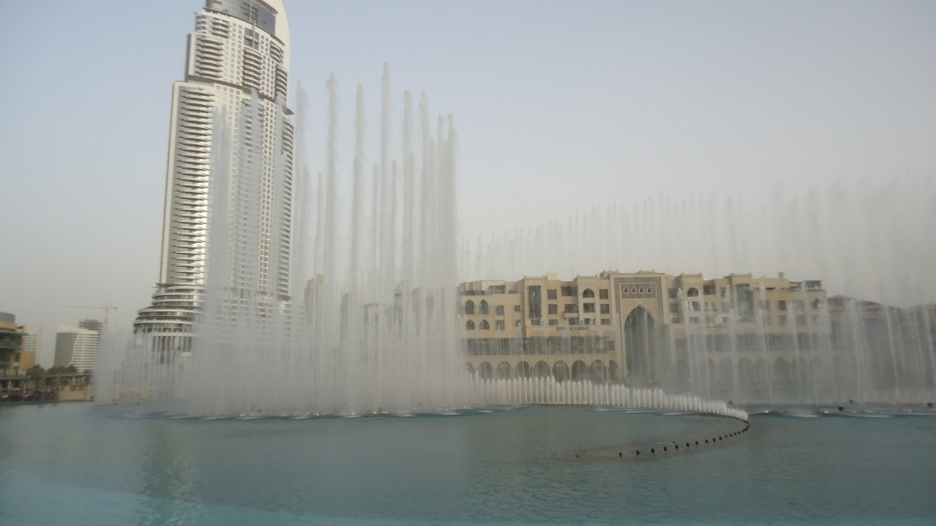 Dubai Fountain, below the Burj Khalifa