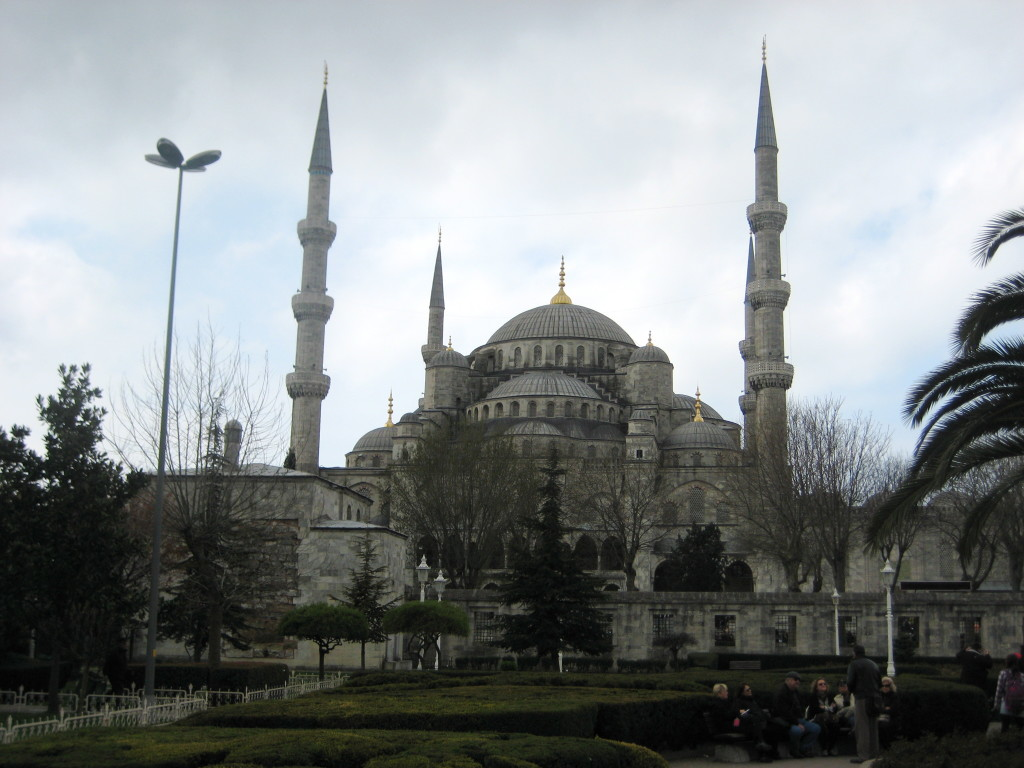 Towering minarets of the Blue Mosque