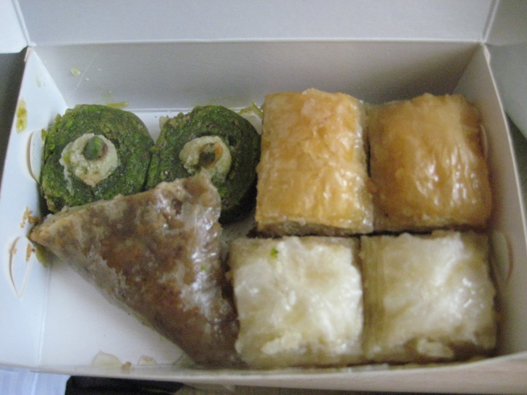 Variety of Baklava