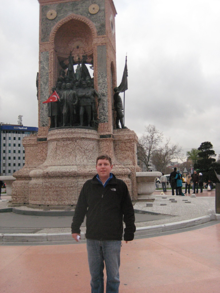 View of Taksim Square which has been in the news recently
