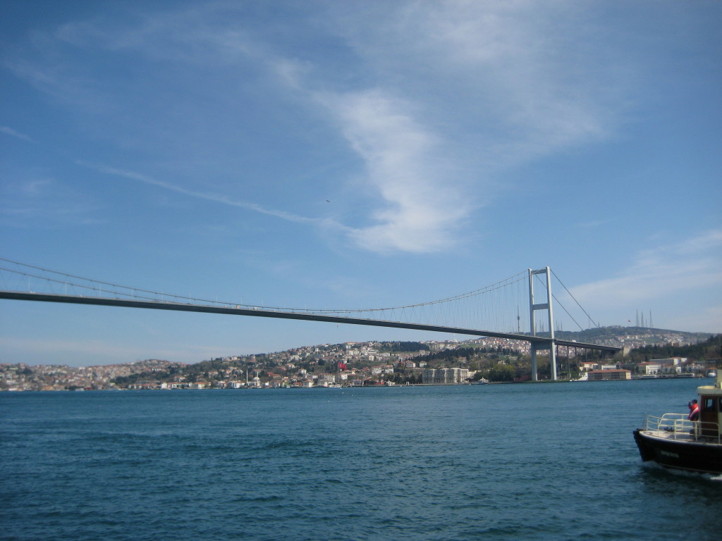 Cruising along the Bosphorus Strait
