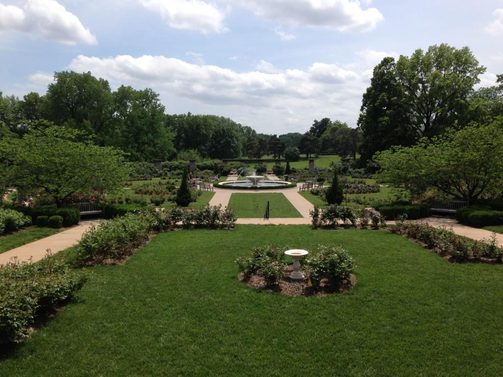 Rose Garden and Fountain, Loose Park