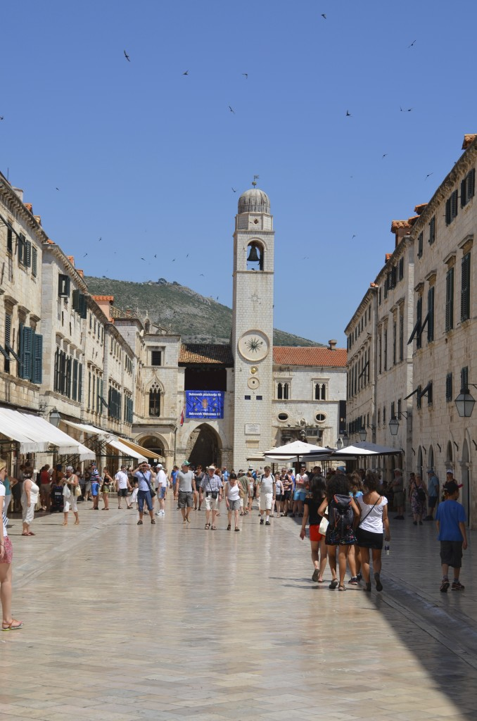 The Stradun in the old town of Dubrovnik