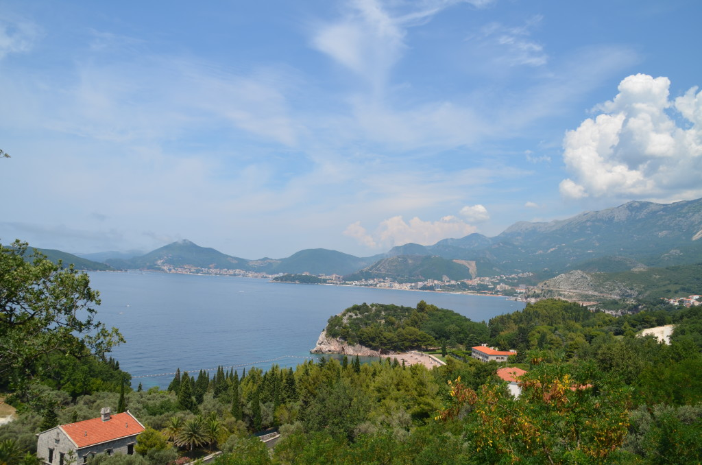 Coastline of Montenegro just south of Budva