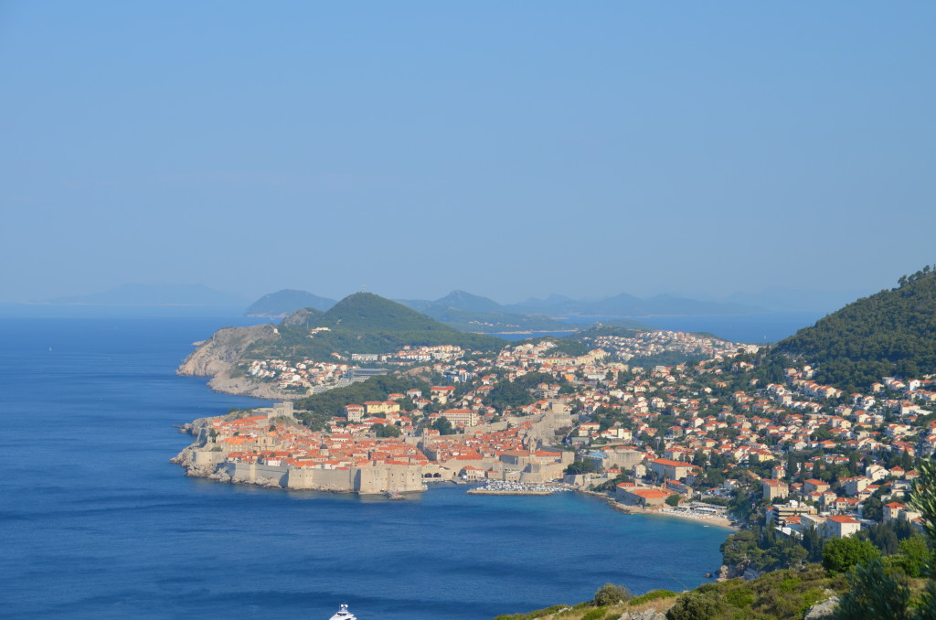 View from Highway 8 as you head south out of Dubrovnik
