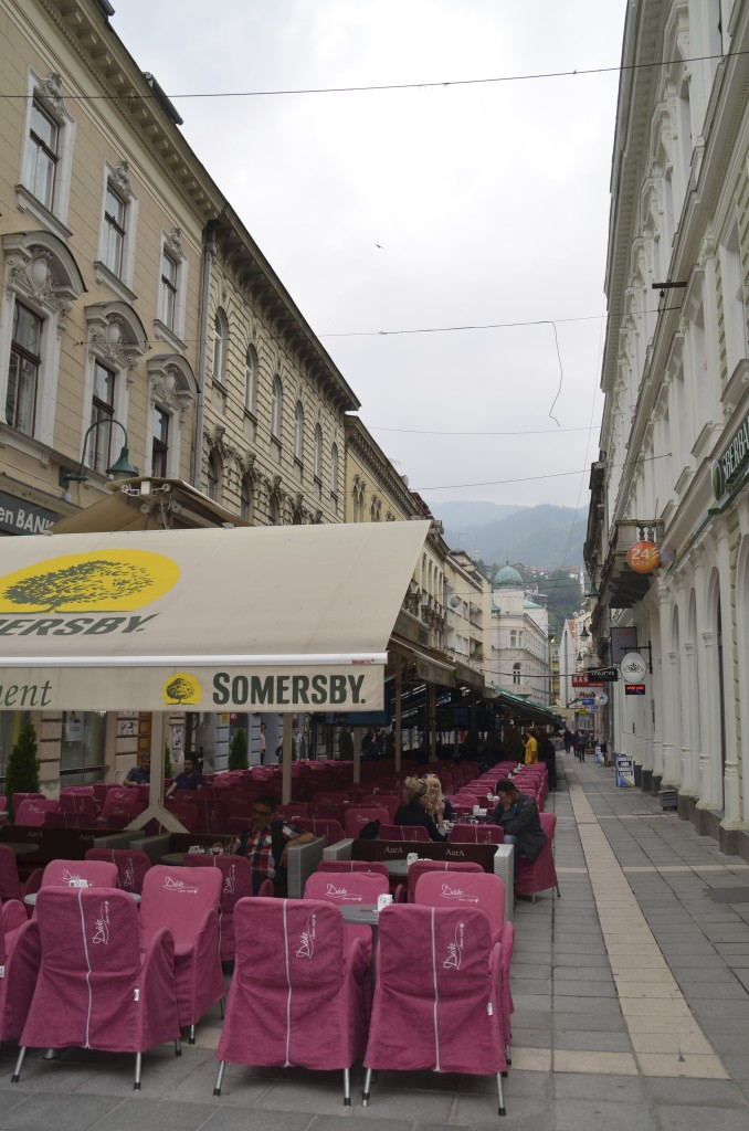 The outdoor cafes of Sarajevo