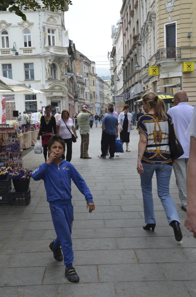 Smoking is endemic in Bosnia.  We even saw this seven year old puffing on a cigarette