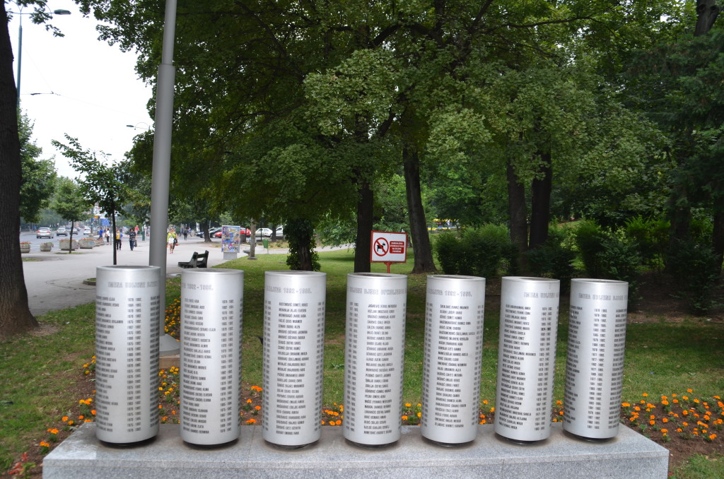Monument in Sarajevo to the 1500 children killed in the siege