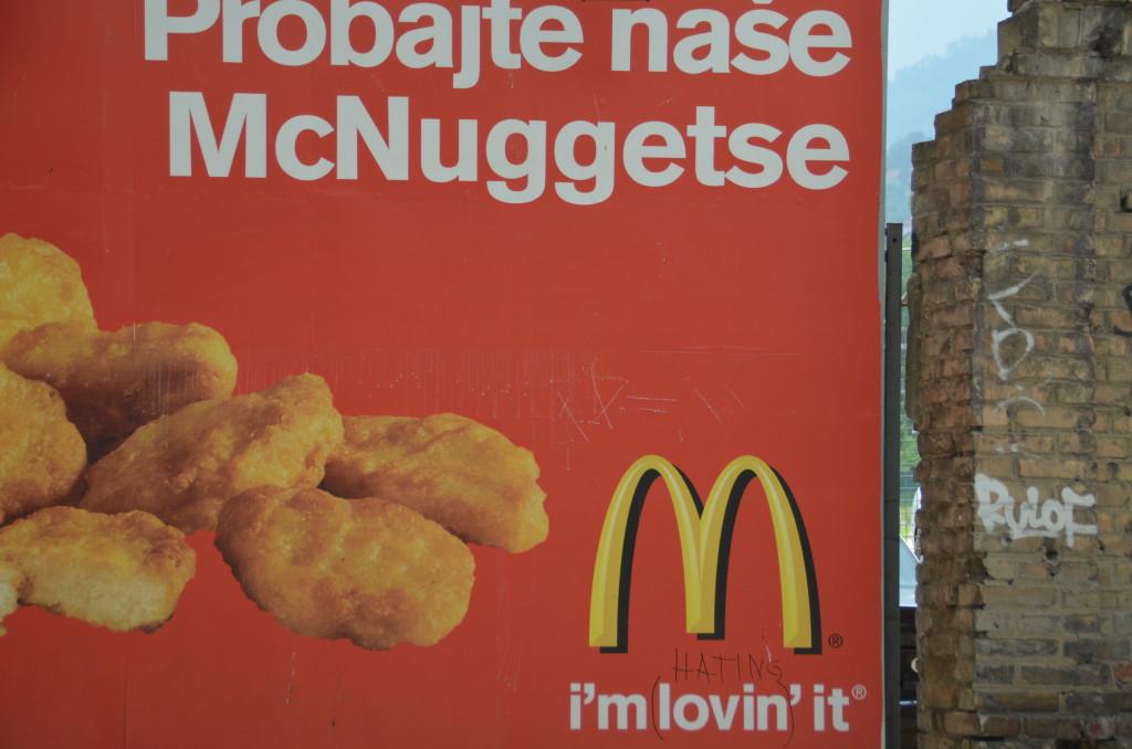 Anti-McDonalds sentiment in Sarajevo