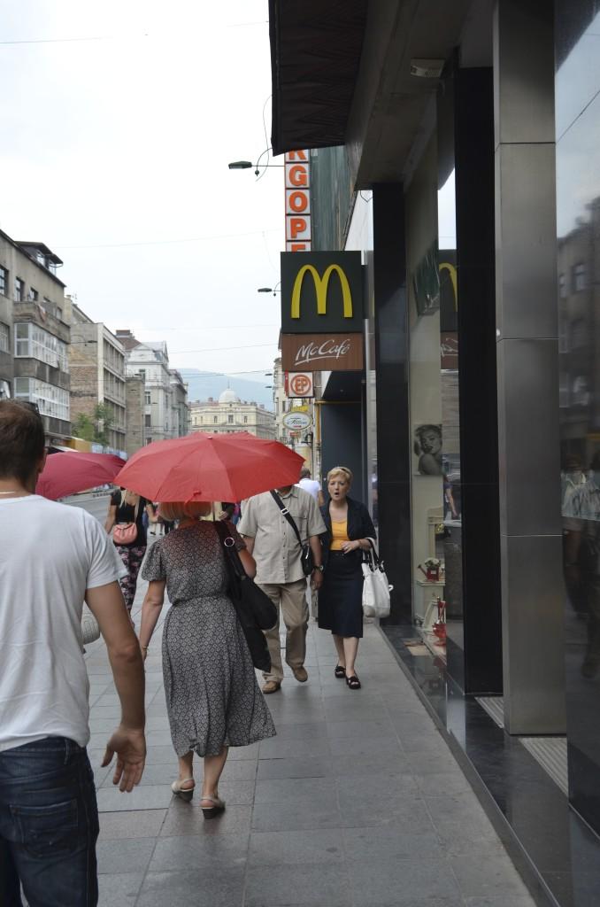 The first McDonald's in Sarajevo