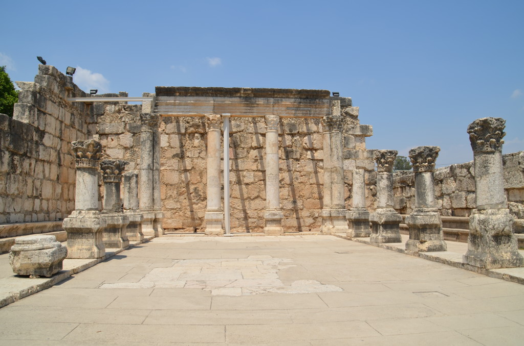 Ancient synagogue in Capernaum where Jesus may have preached
