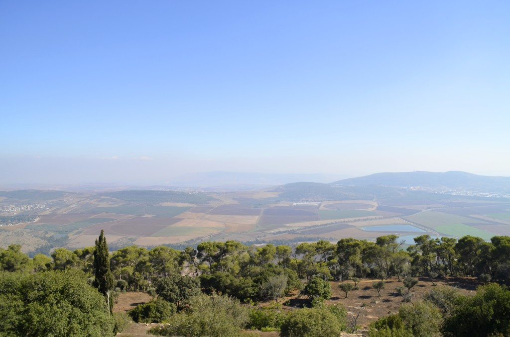 A view of lower Galilee from Mount Tabor