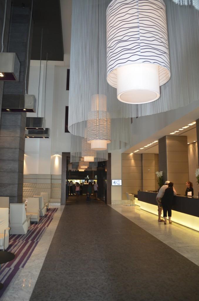 Modern decor of the lobby