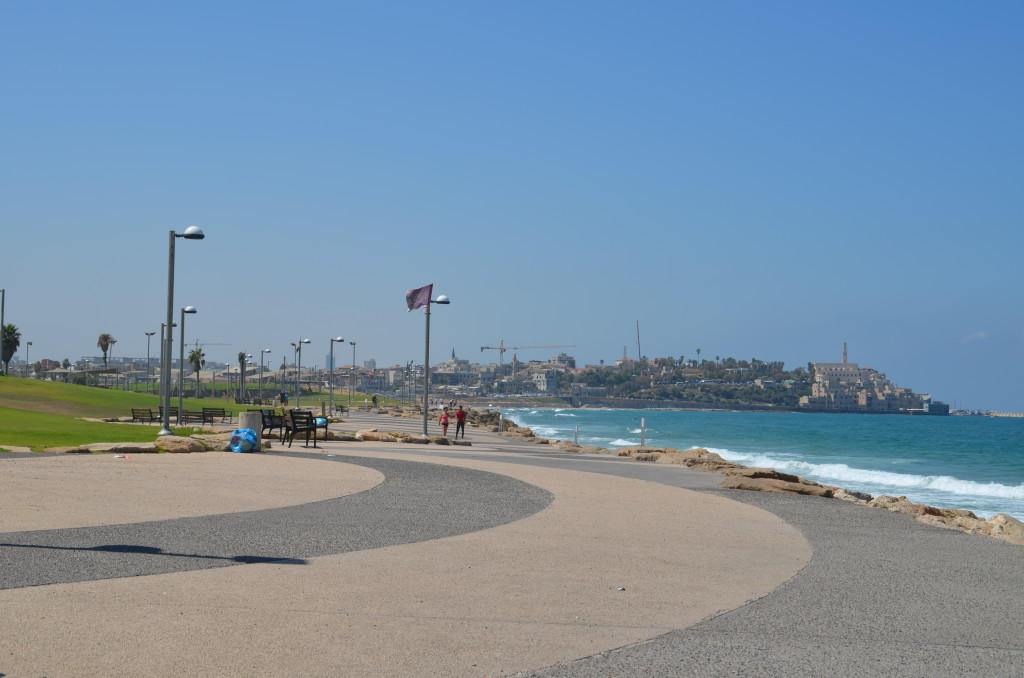 Walking path toward Jaffa