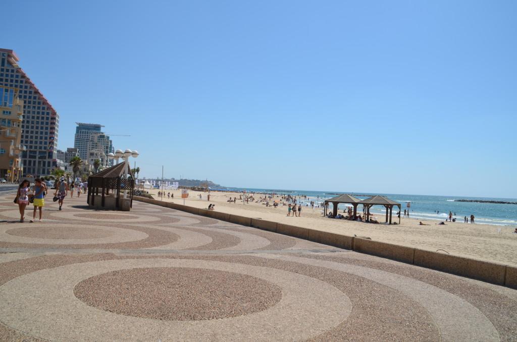 Walking path along the beach promenade