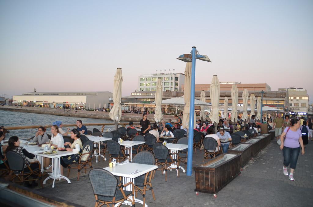 Outdoor Restaurants in the old port of Tel Aviv