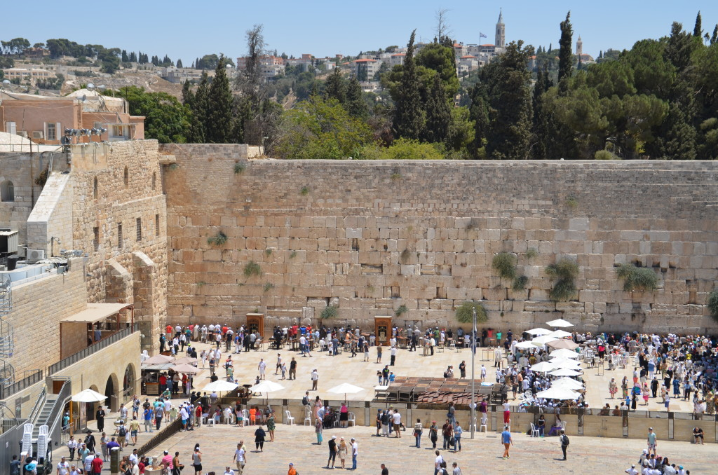 The Western (Wailing) Wall - a holy site for Jews just adjacent to the Temple Mount
