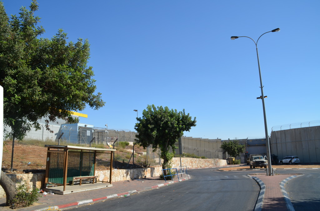 The wall that separates Jerusalem from Bethlehem