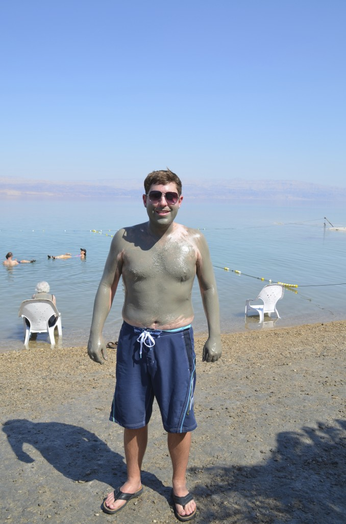The mineral rich Dead Sea mud