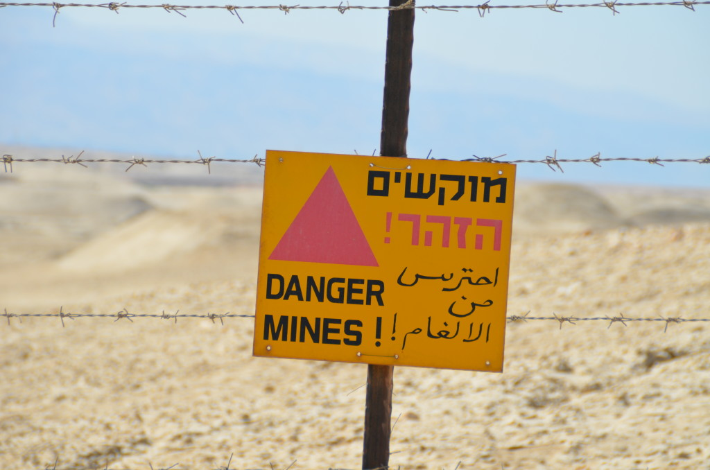 Israel has placed land mines on the road that leads to the baptismal site near the Jordanian border