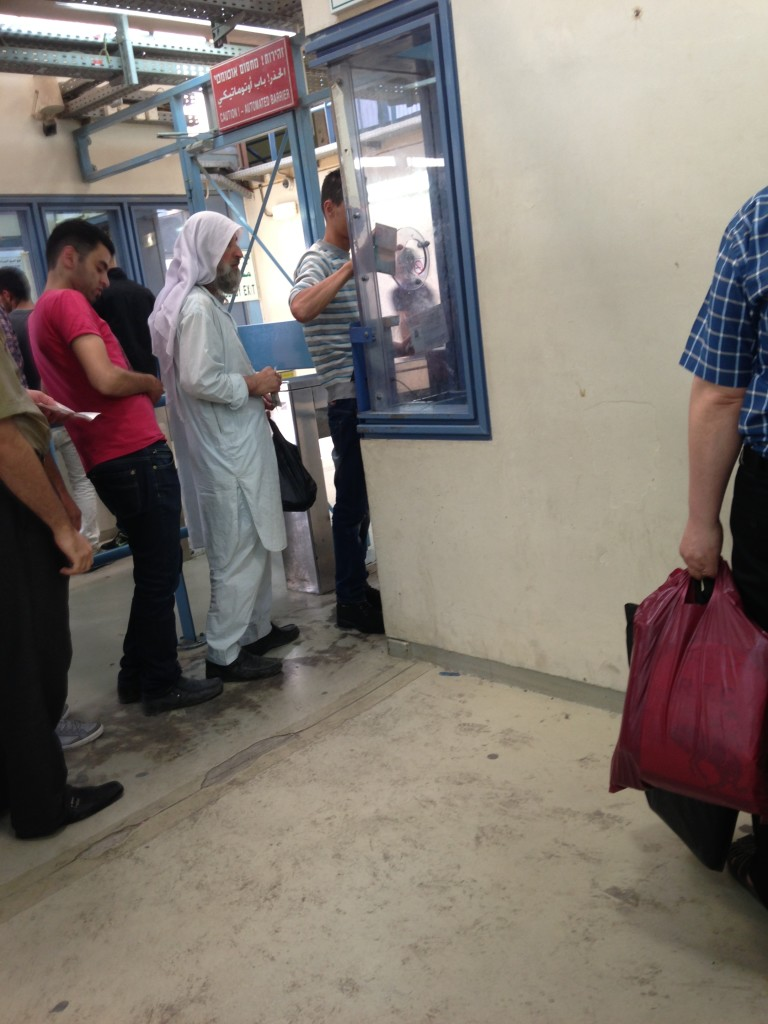 Palestinians having to pass through checkpoints in their own territory