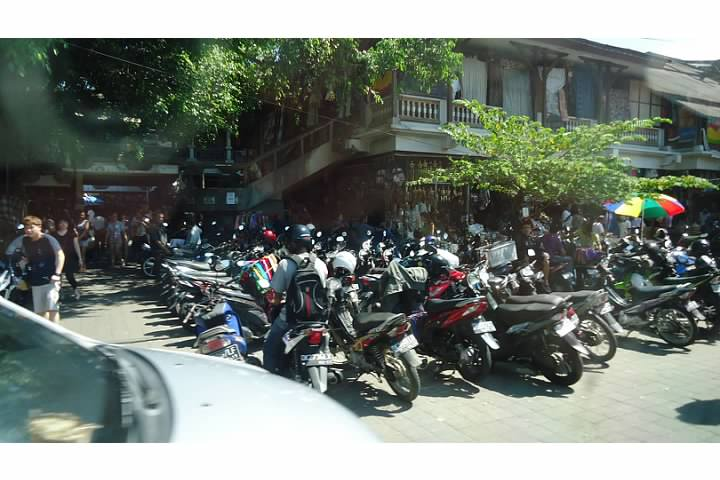 Motorbikes are the transportation of choice in Bali