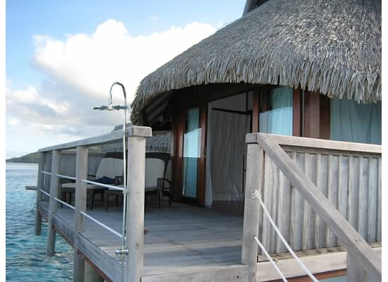 Deck of the bungalow