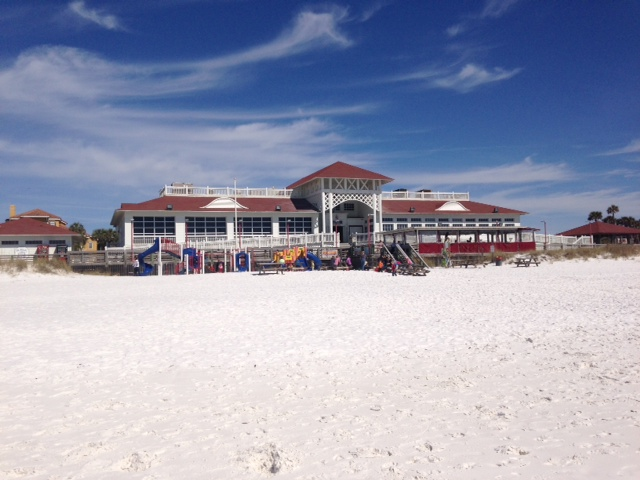 The Crab Shack restaurant right on the beach in Destin