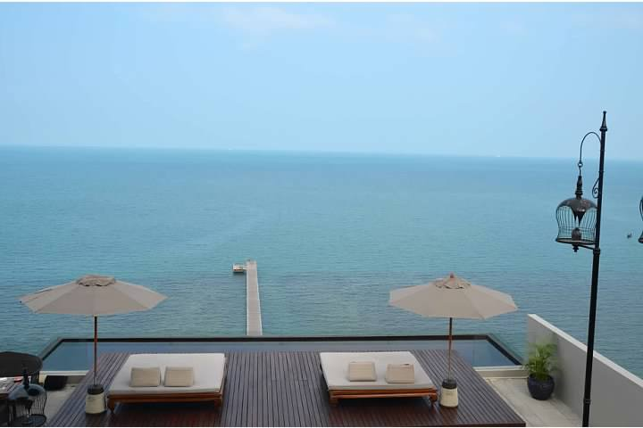 View from the lobby of the Intercontinental Samui