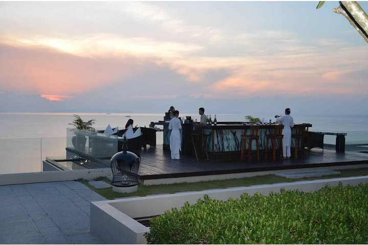 "Air Bar at the Intercontinental Samui at sunset - featured in ""1000 places to see before you die"""